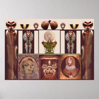 Interior com a chama por Anjo Lafin Posters