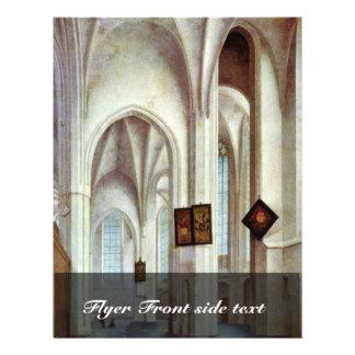 Interior de St. Jacobskerk em Utrecht por Saenreda Panfletos