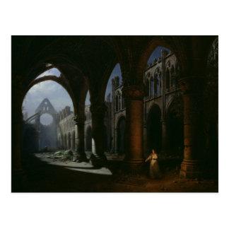 Interior de uma abadia nas ruínas, 1848 cartão postal