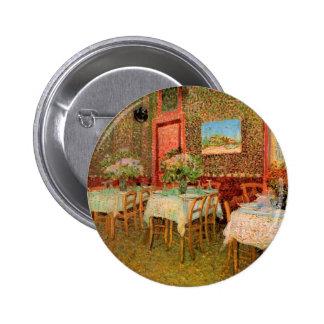 Interior do restaurante, belas artes de Van Gogh Bóton Redondo 5.08cm