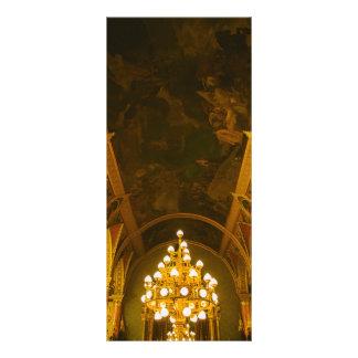 Interior húngaro do parlamento 10.16 x 22.86cm panfleto