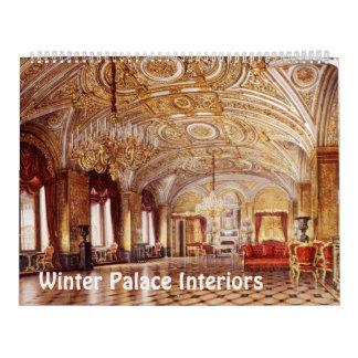 interiores de 12 meses do calendário do palácio do