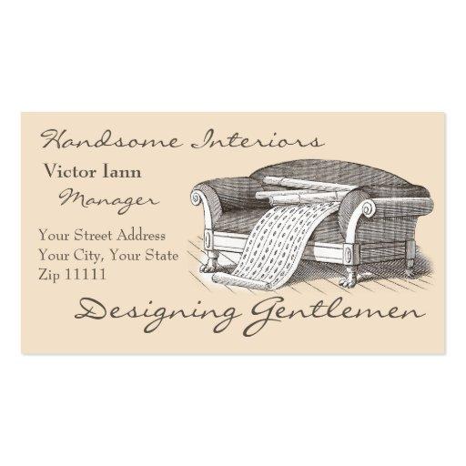 Interiores do Victorian para o decorador do desenh Modelos Cartões De Visita