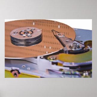 Internals de uma movimentação de disco rígido poster