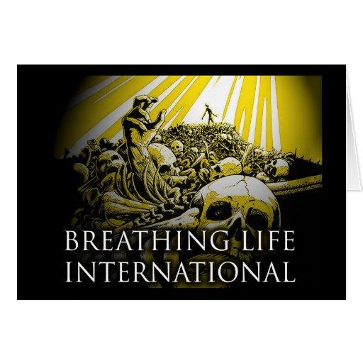 International de respiração da vida cartoes