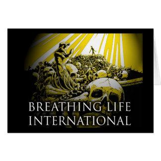 International de respiração da vida cartão comemorativo