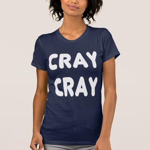 Internet branco Memes de Cray Cray Tshirt