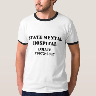 Interno do hospital mental camiseta