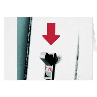 Interruptor da luz cartão comemorativo