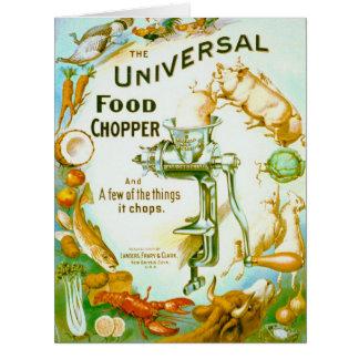 Interruptor inversor universal 1897 da comida cartão comemorativo grande