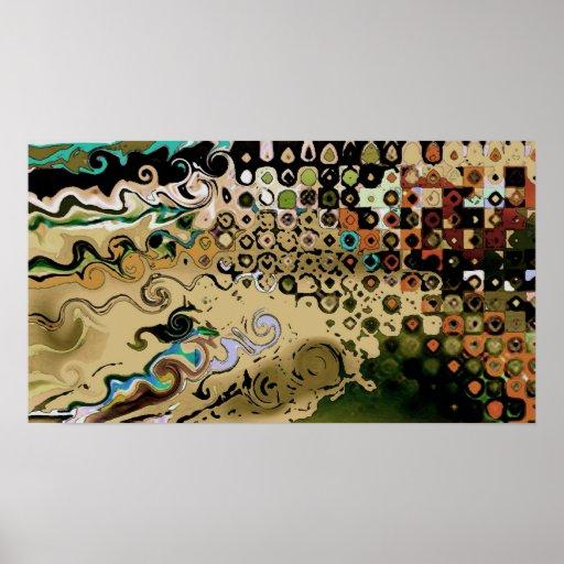 Intersecção - poster abstrato pôster