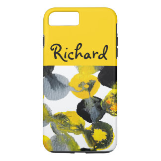 Intertactions do amarelo, o cinzento e o preto capa iPhone 7 plus