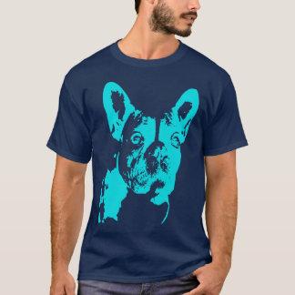 Intimidação azul camiseta