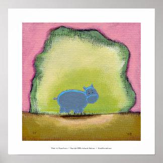 Intitulado:  Meu hipopótamo sabe Poster