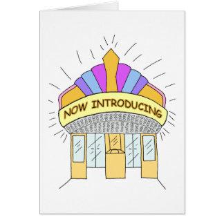 Introdução das vendas cartão comemorativo