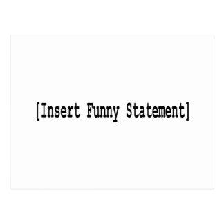 Introduza a indicação engraçada/retorno cartão postal