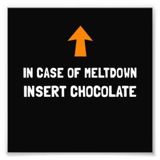 Introduza o chocolate impressão de foto