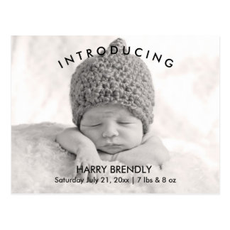Introduzindo o cartão de Announcment do nascimento