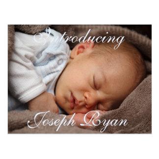 Introduzindo o cartão novo do anúncio do bebê