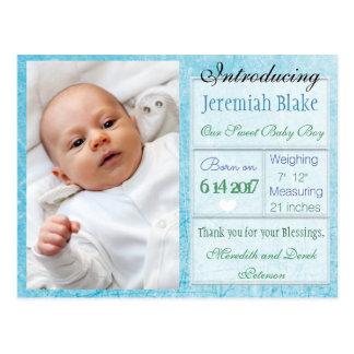 Introduzindo o cartão novo do anúncio do bebé