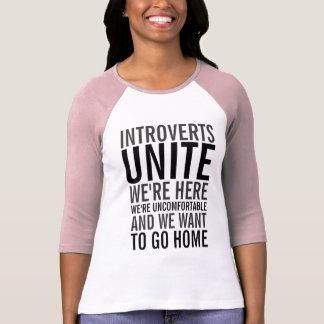 Introverts unem a camisa do Raglan