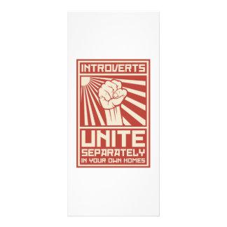 Introverts unem-se separada em suas próprias casas 10.16 x 22.86cm panfleto