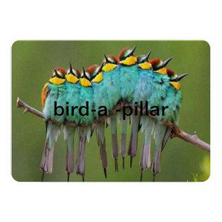 invatation da coluna do pássaro-um convite 12.7 x 17.78cm