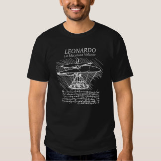 Invenção aérea do parafuso de Leonardo da Vinci T-shirts