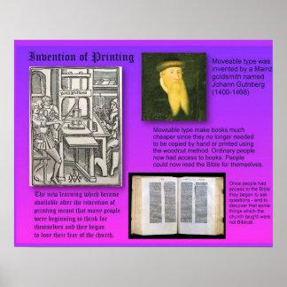 Invenção da história de impressão