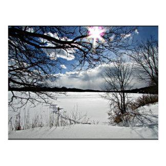 """""""Inverno ao longo do Mohawk """" Cartão Postal"""