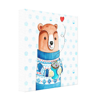 """inverno Bear"" Canvas arquibancada espécie for you"