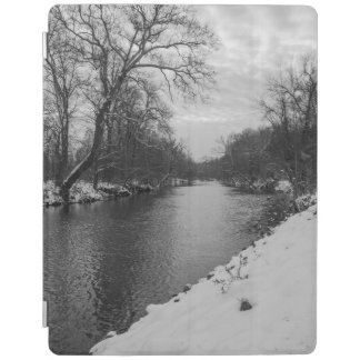 Inverno calmo no Grayscale de James River Capa Smart Para iPad