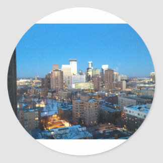 Inverno de Minneapolis Adesivos Em Formato Redondos