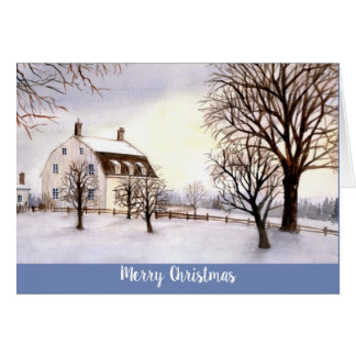 Inverno do cartão de cumprimentos da estação em
