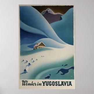 Inverno em Jugoslávia, poster do esqui