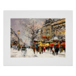 Inverno em Paris. Poster das belas artes