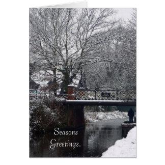 Inverno no cartão da ponte da estufa