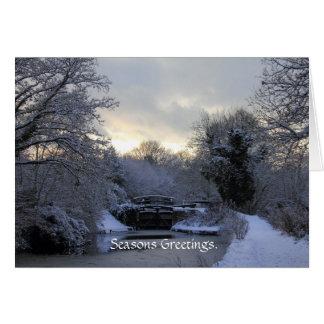 Inverno no cartão do canal de Basingstoke
