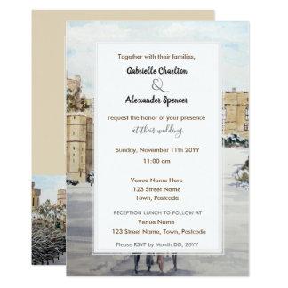 Inverno no convite do casamento do castelo de