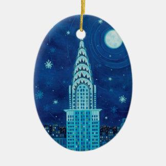 Inverno no ornamento do Oval de New York