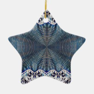 Inverno psicadélico ornamento de cerâmica