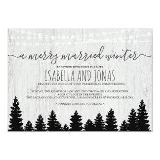 Inverno rústico do convite | do casamento