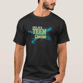 Inverse Center adolescente do logotipo de Niles Camiseta