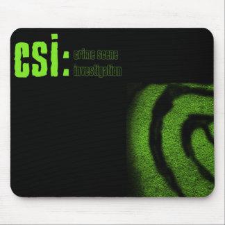 investigação da cena do crime do csi mouse pad