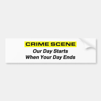 Investigador da cena do crime adesivo para carro