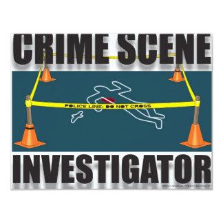 INVESTIGADOR DA CENA DO CRIME CONVITE 10.79 X 13.97CM