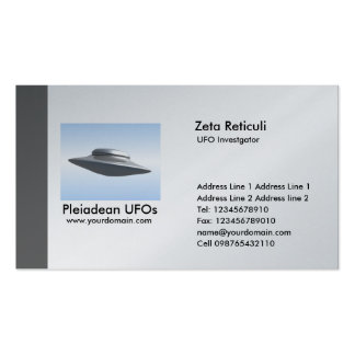 Investigador do UFO da borda - cinza Modelo De Cartões De Visita