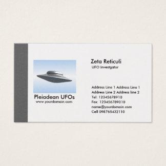 Investigador do UFO da borda - cinza Cartão De Visitas