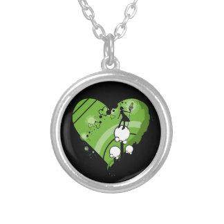 Investigador verde do pintor do coração - colares