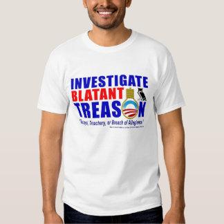 Investigue a traição evidente tshirts